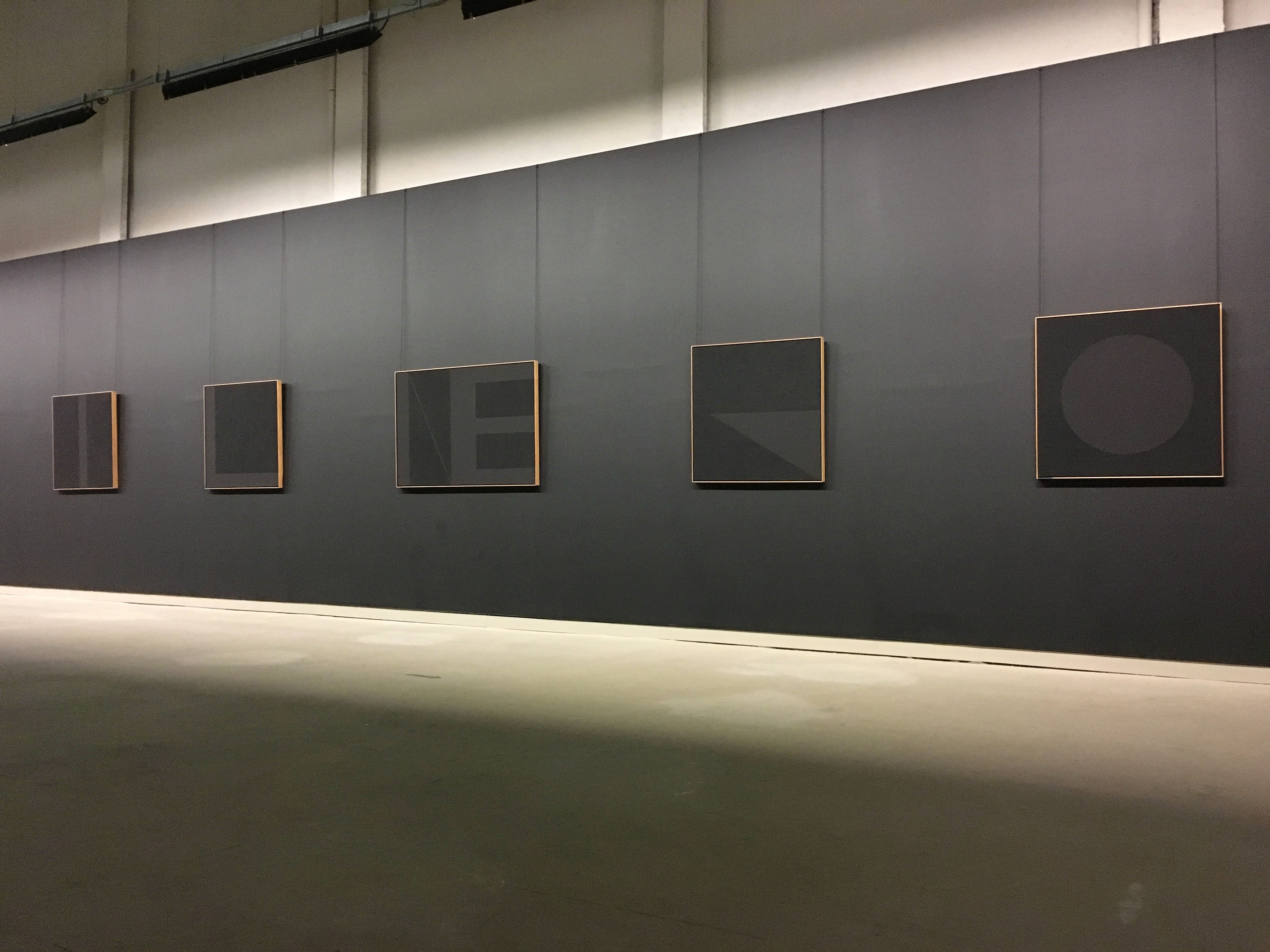 Black paintings on display in Citta di Castello.