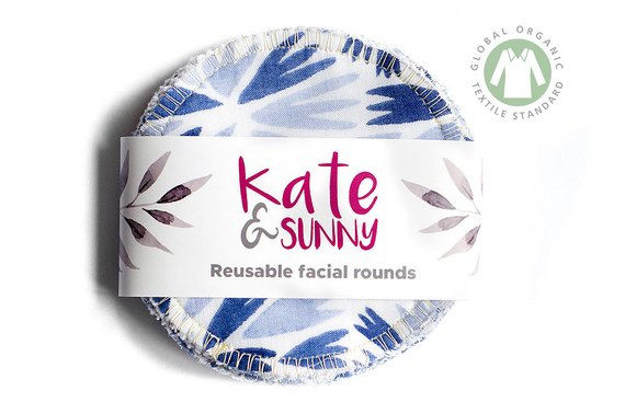 Kate and Sunny Reusable face rounds made using zero waste cotton