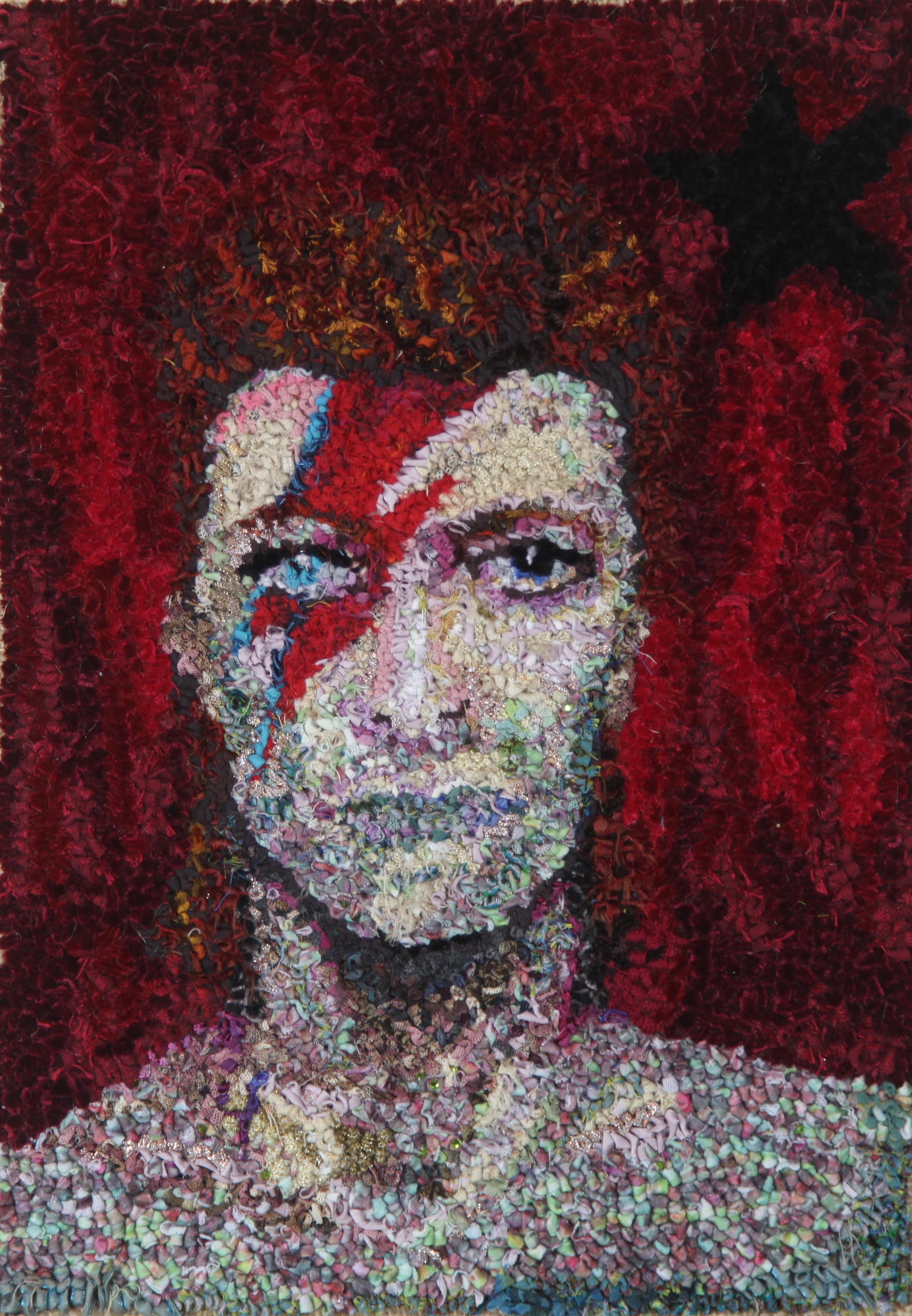 Rag rug David Bowie Starman