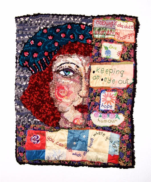 Diane Cox Keeping an eye out rag rug