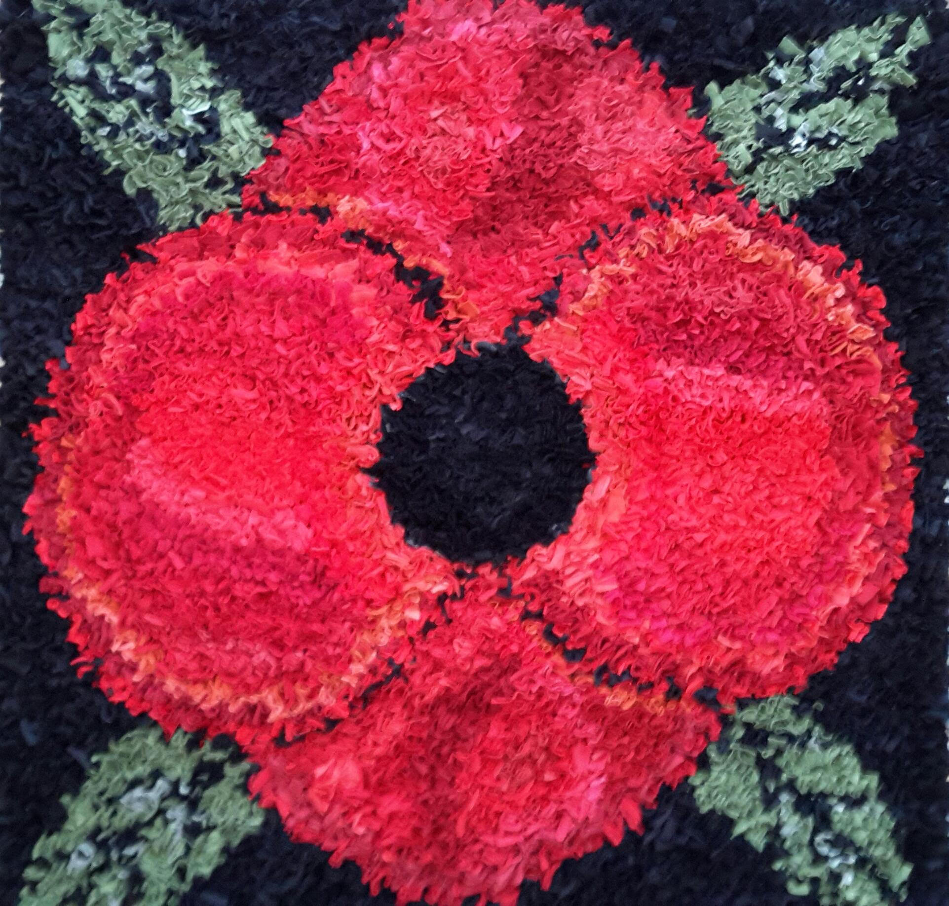 Poppy rag rug Stephanie gaston