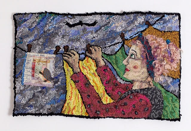 Diane Cox The day the buzzard came rag rug
