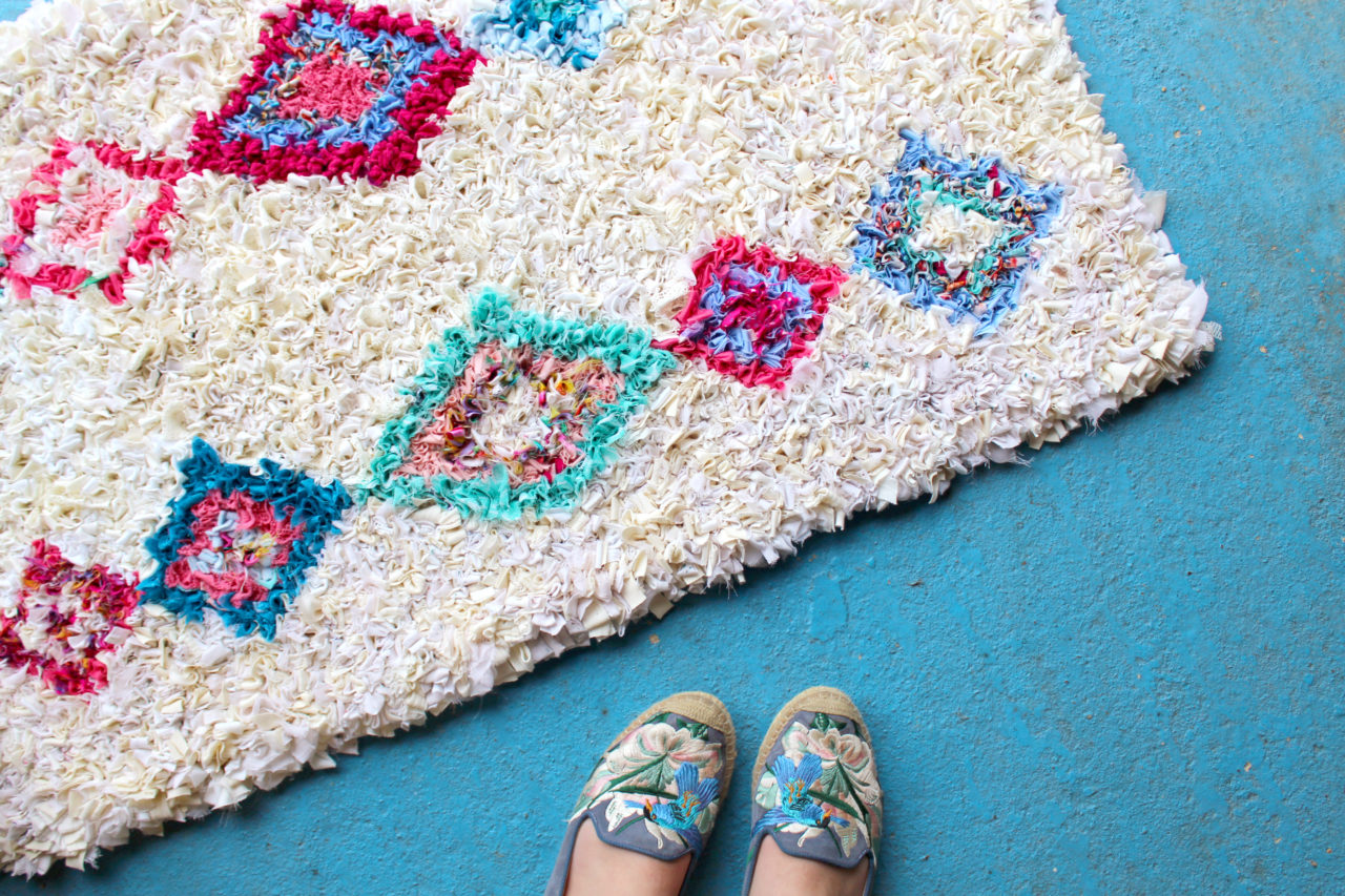 Mollie Makes Berber Rag Rug by Elspeth Jackson