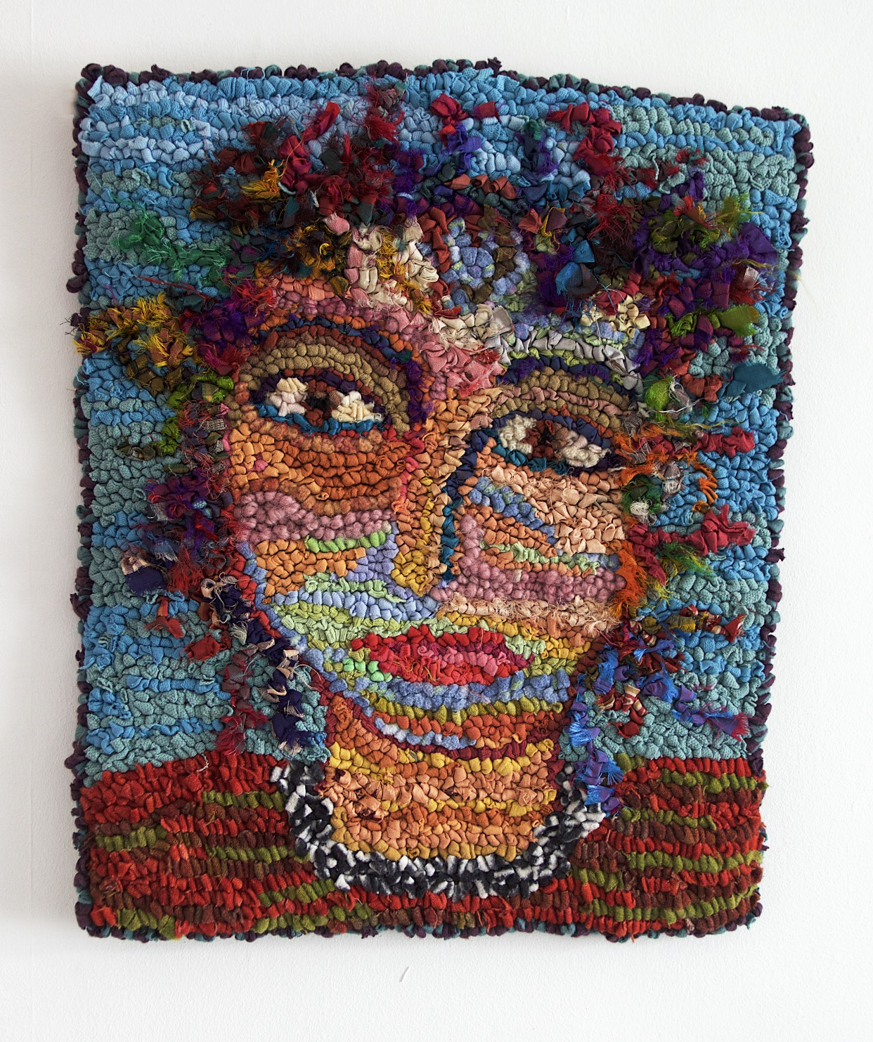 Sue Dove - Self portrait rag rug