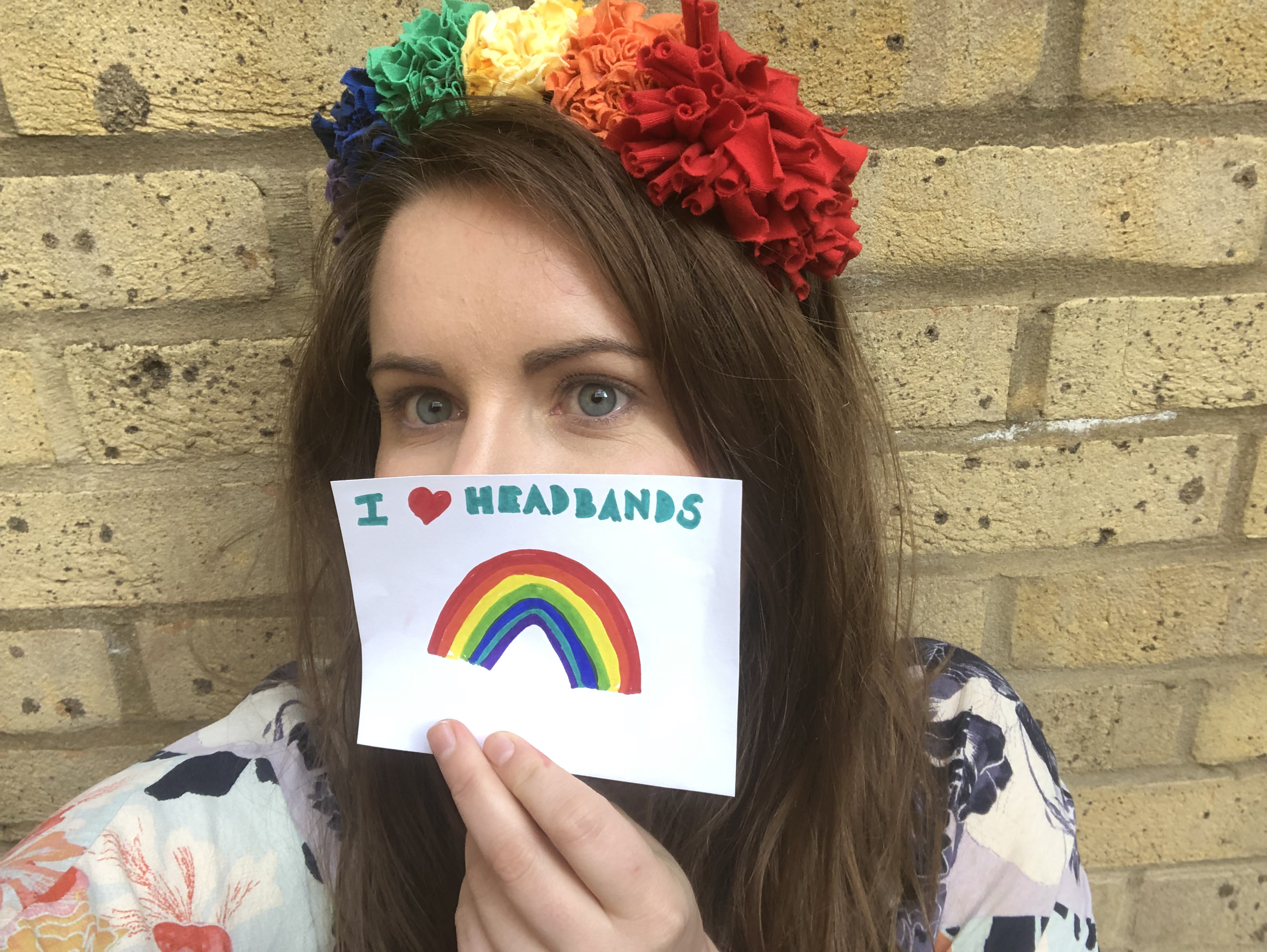I heart rag rug headbands rainbow pride accessory DIY