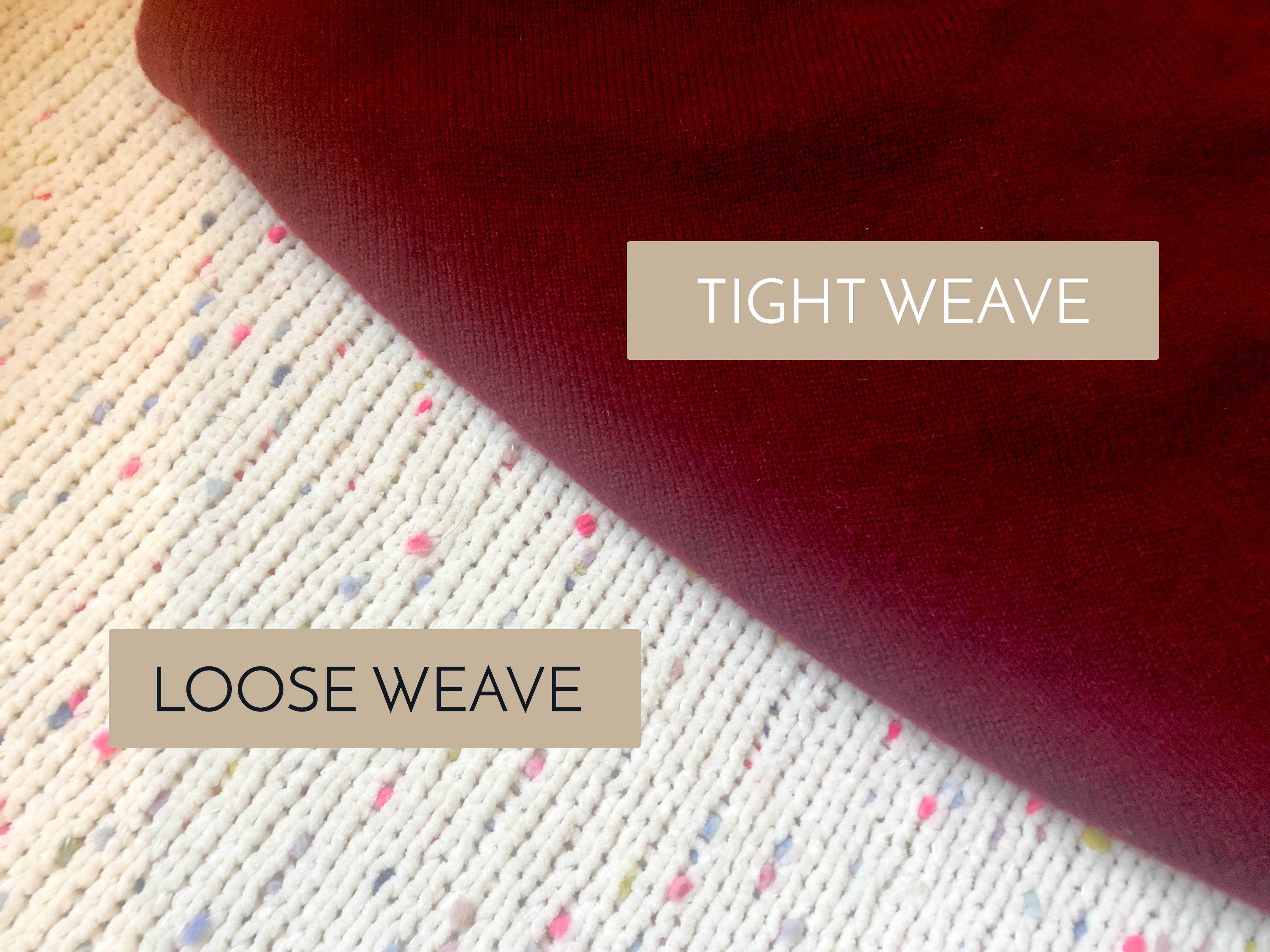 Loose and tight weave woven woollen fabrics