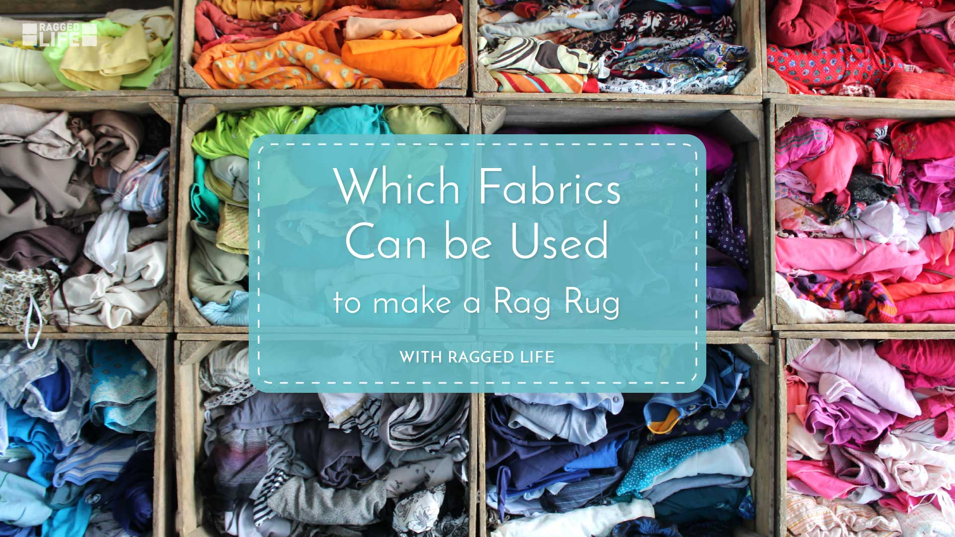 What Fabrics can be used to make a rag rug video