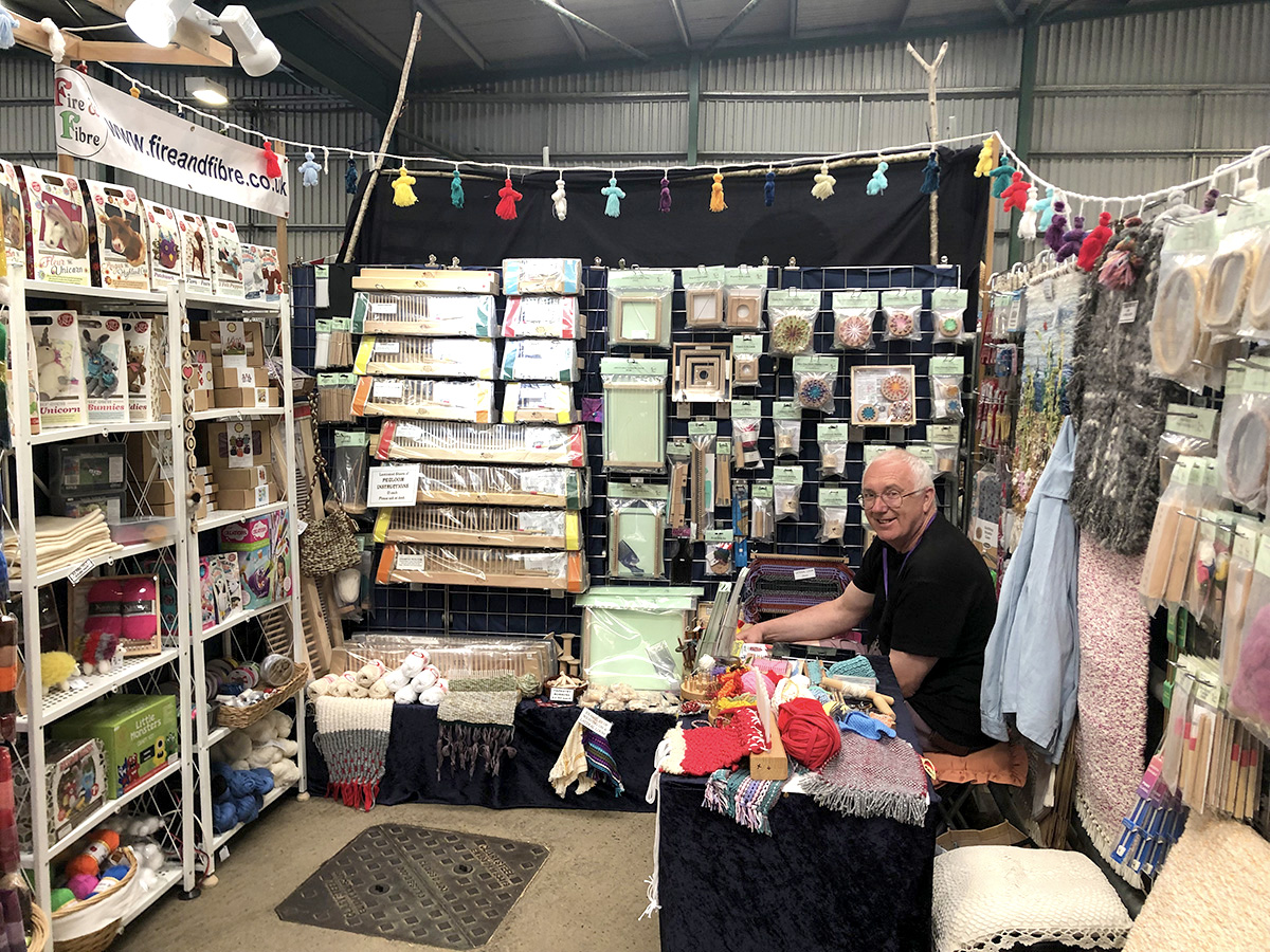 Fire and Fibre Stall at Woolfest 2019