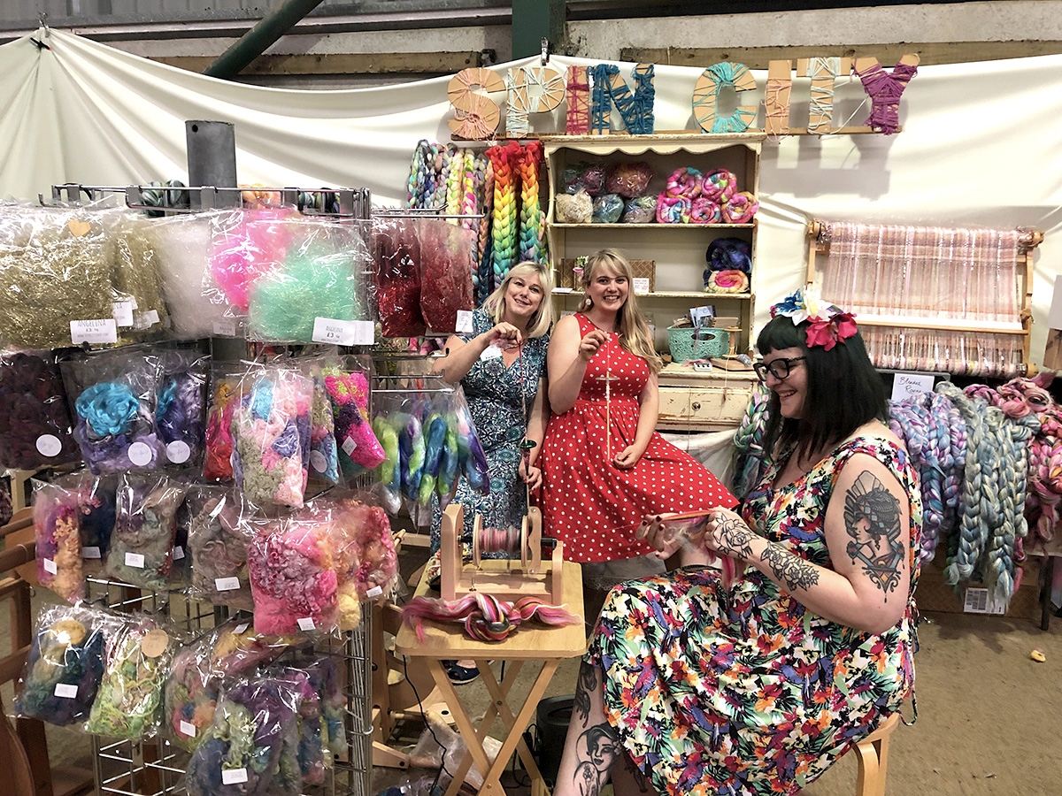 Spin City craft stall at Woolfest 2019