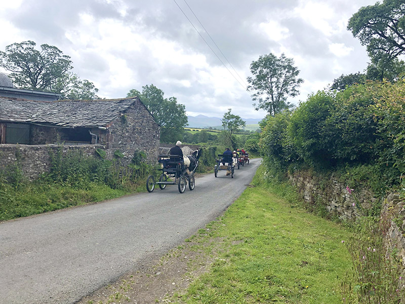 Horse Drawn carts in the Lake District