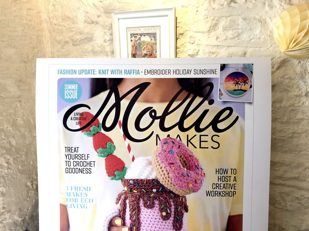 Mollie Makes Magazine Cover at the Handmade Awards 2019