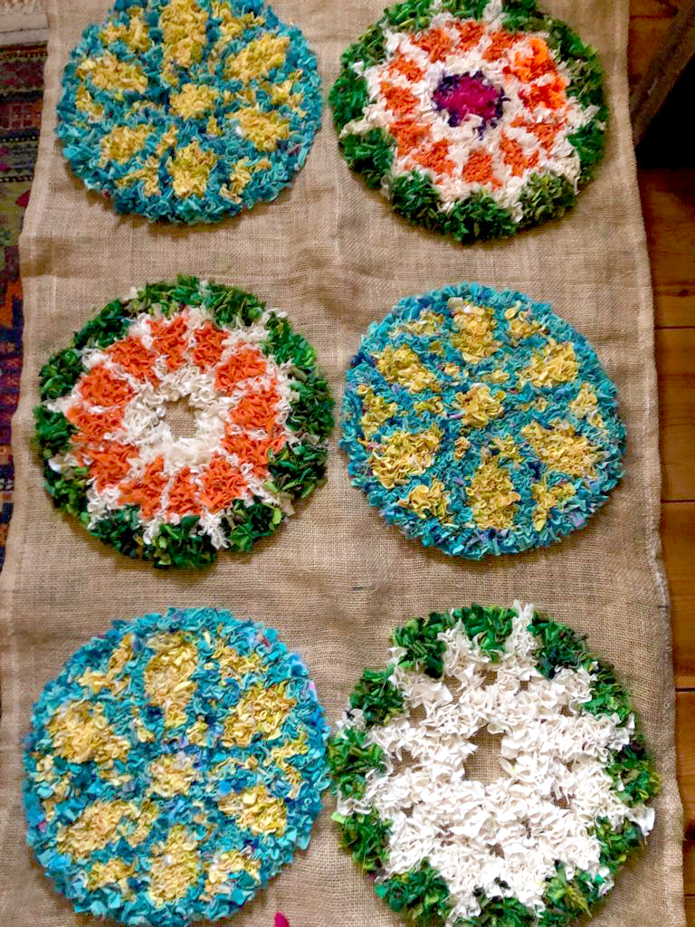 Work in progress designer rag rug
