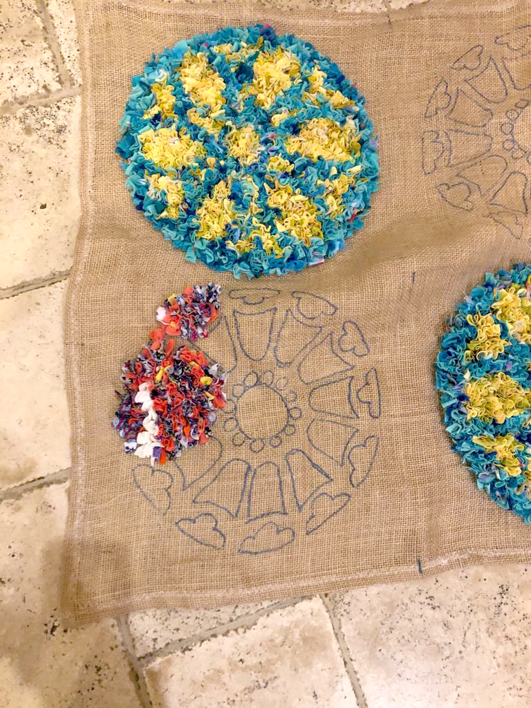 Work in progress rag rug