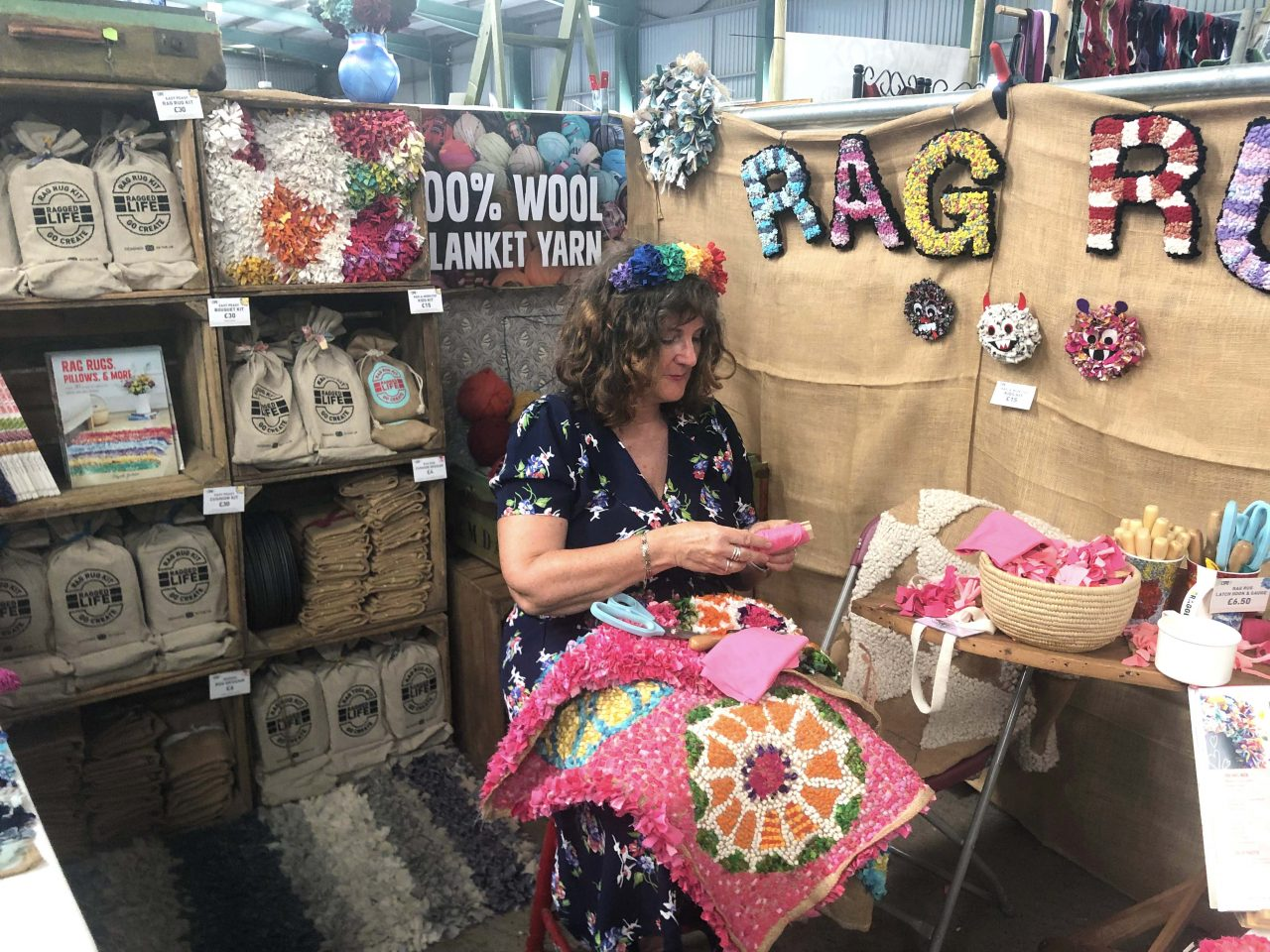 Ragged Life Rag Rug Shop at Woolfest 2019 in Cockermouth Lake District