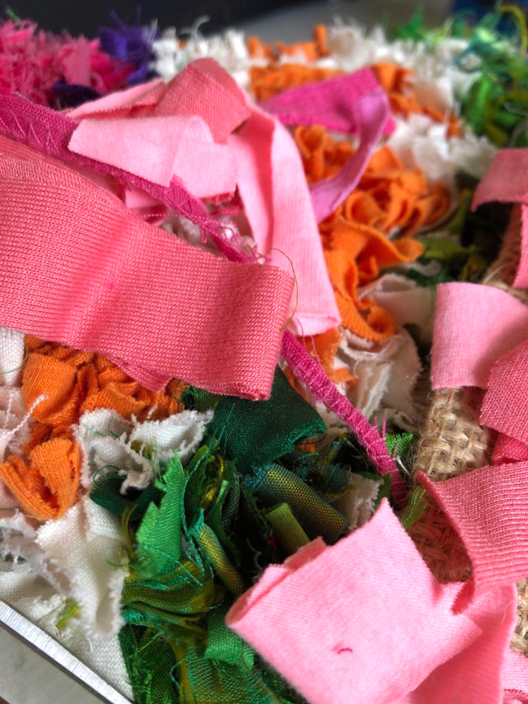 Scrap fabric for rag rug making