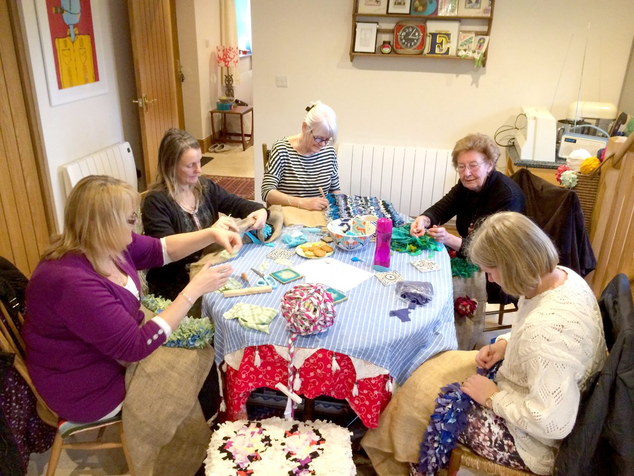 Ragged Life rag rug coffee morning in Hitchin, Hertfordshire
