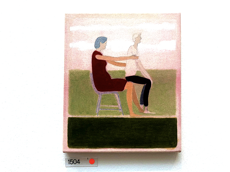 Elderly people sitting on each other artwork