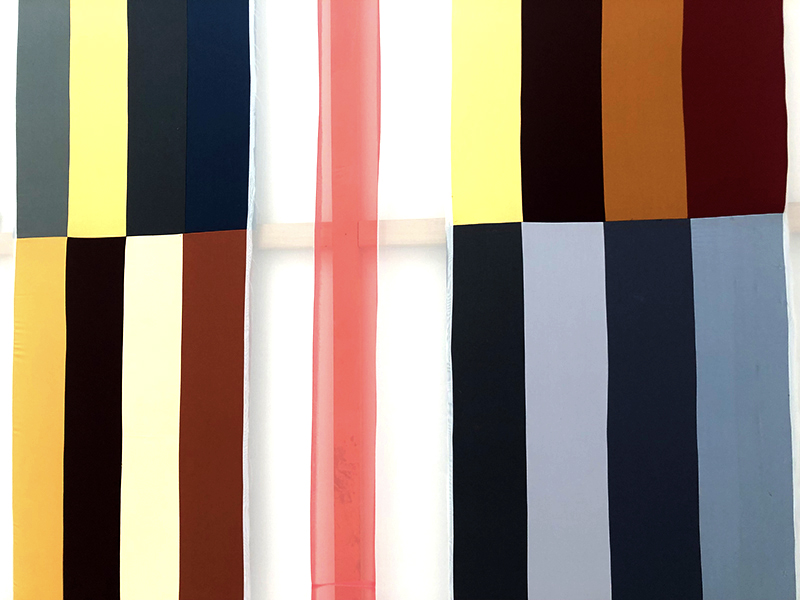 Striped artwork