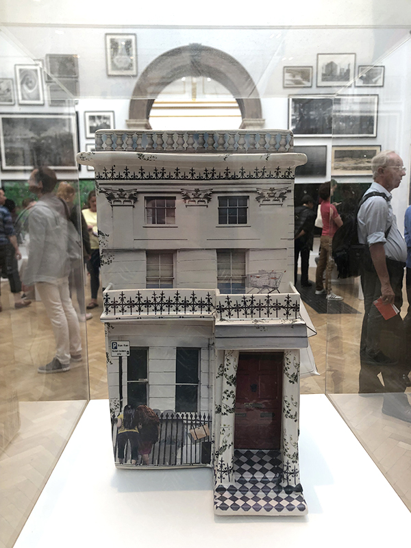 Ceramic house at the 2019 Summer Exhibition