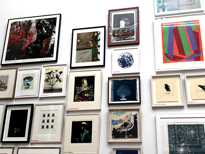 White wall covered in art at the Summer Exhibition 2019