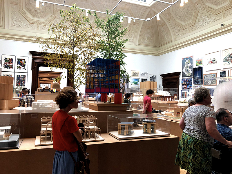 Architecture room at the Royal Academy of Arts 2019 Summer Exhibition
