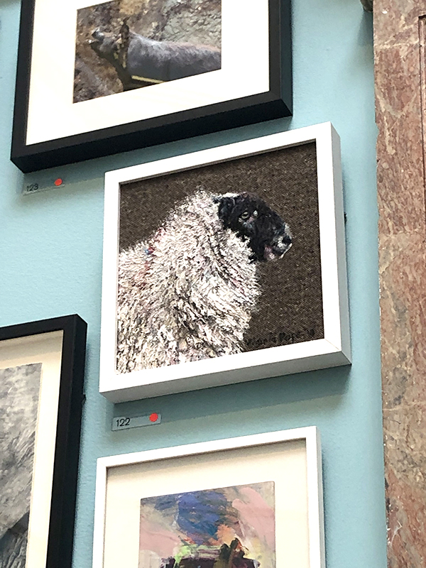Sheep artwork at the RA