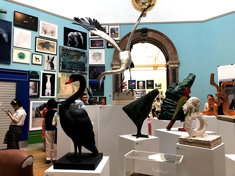 2019 Summer Exhibition entry room