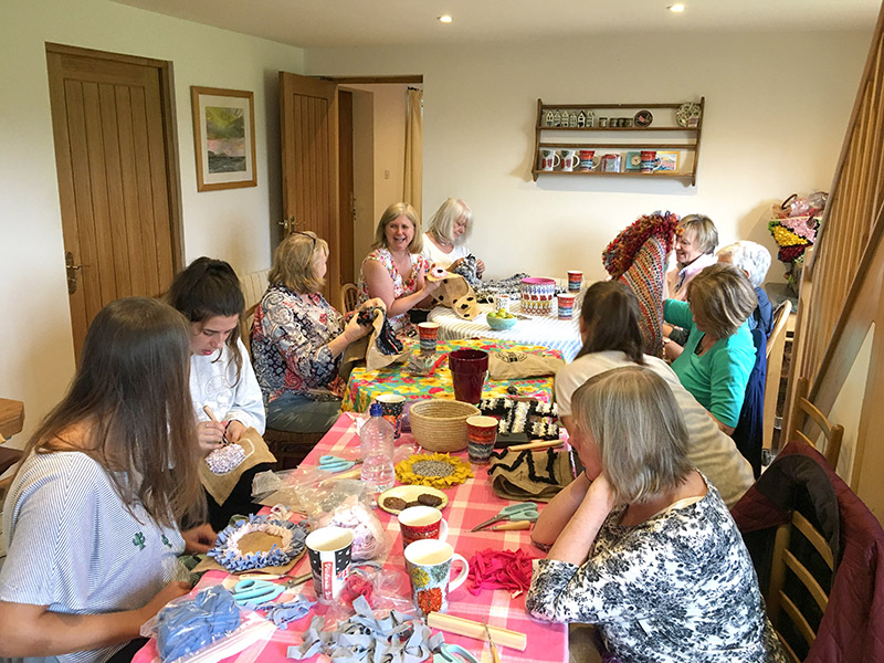 Ragged Life rag rug coffee morning