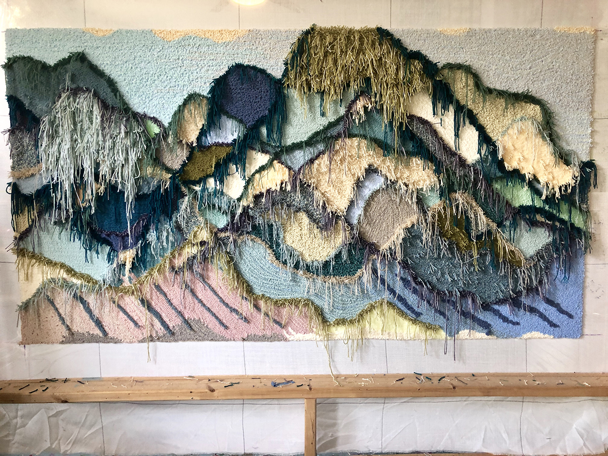 Mountain textile art by Trish Andersen