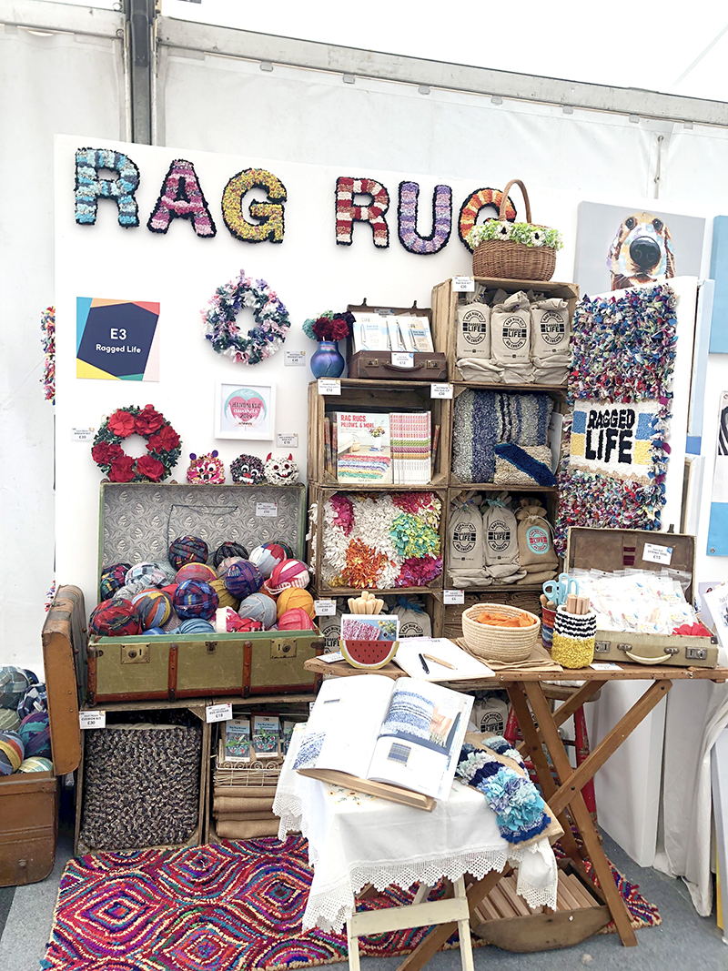 Ragged Life rag rug stand at the Kirstie Allsopp Handmade Festival 2020