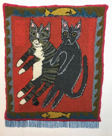 Selby Hurst Rug Hole Punch Cats