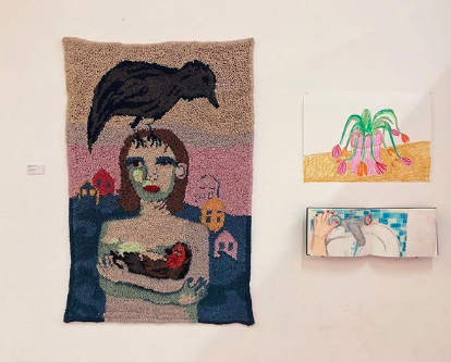 Selby Hurst Hole Punching Women and Crow
