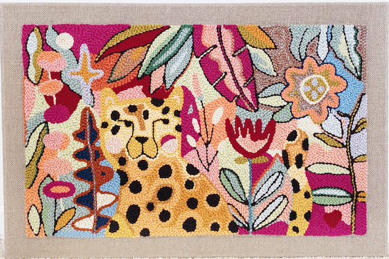 Needle Punching, Adeline Wang Leopard Rug
