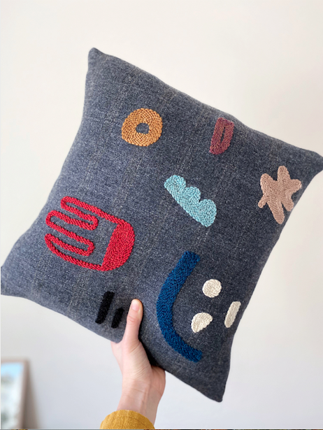 Needle Punching, Adeline Wang, cushion
