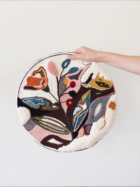 Needle Punching, Adeline Wang, embroidery hoop