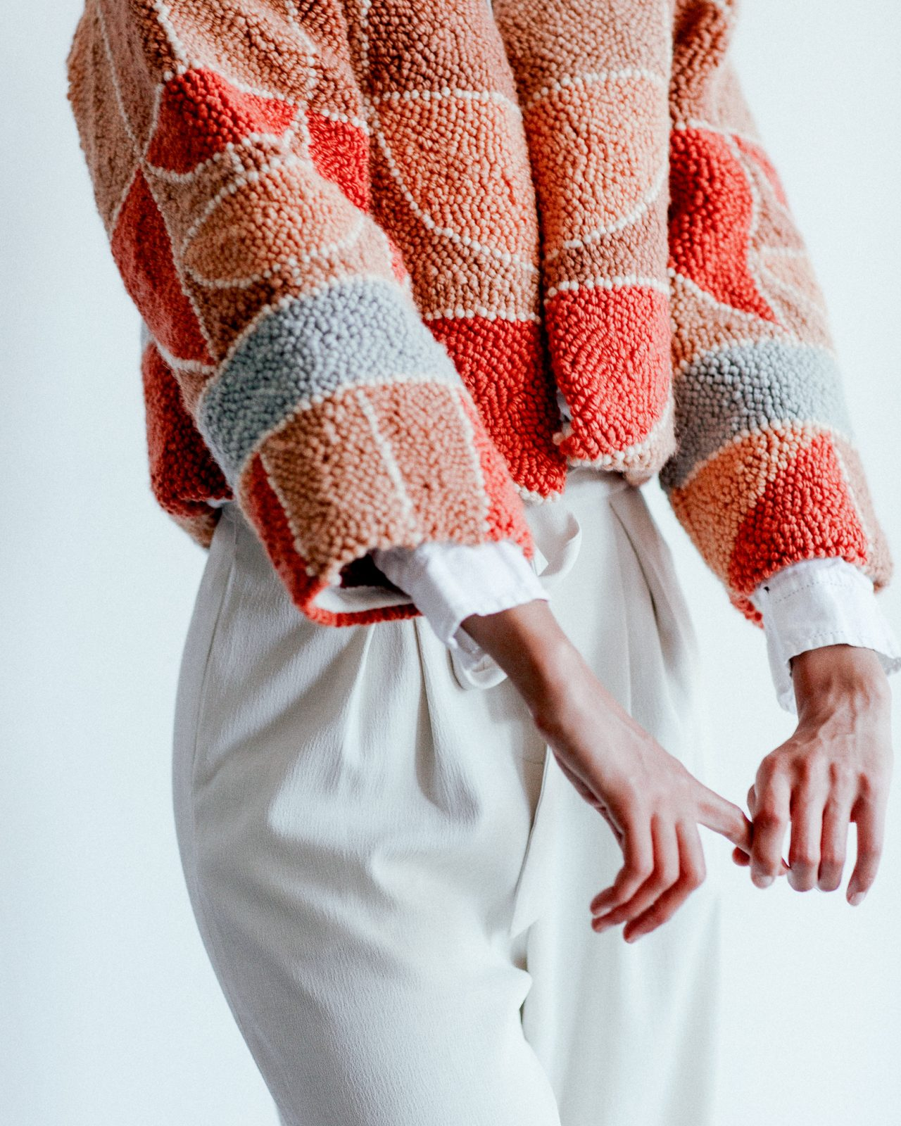 Micah Clasper- Torch Rag Rug Jacket Sleeves and Front