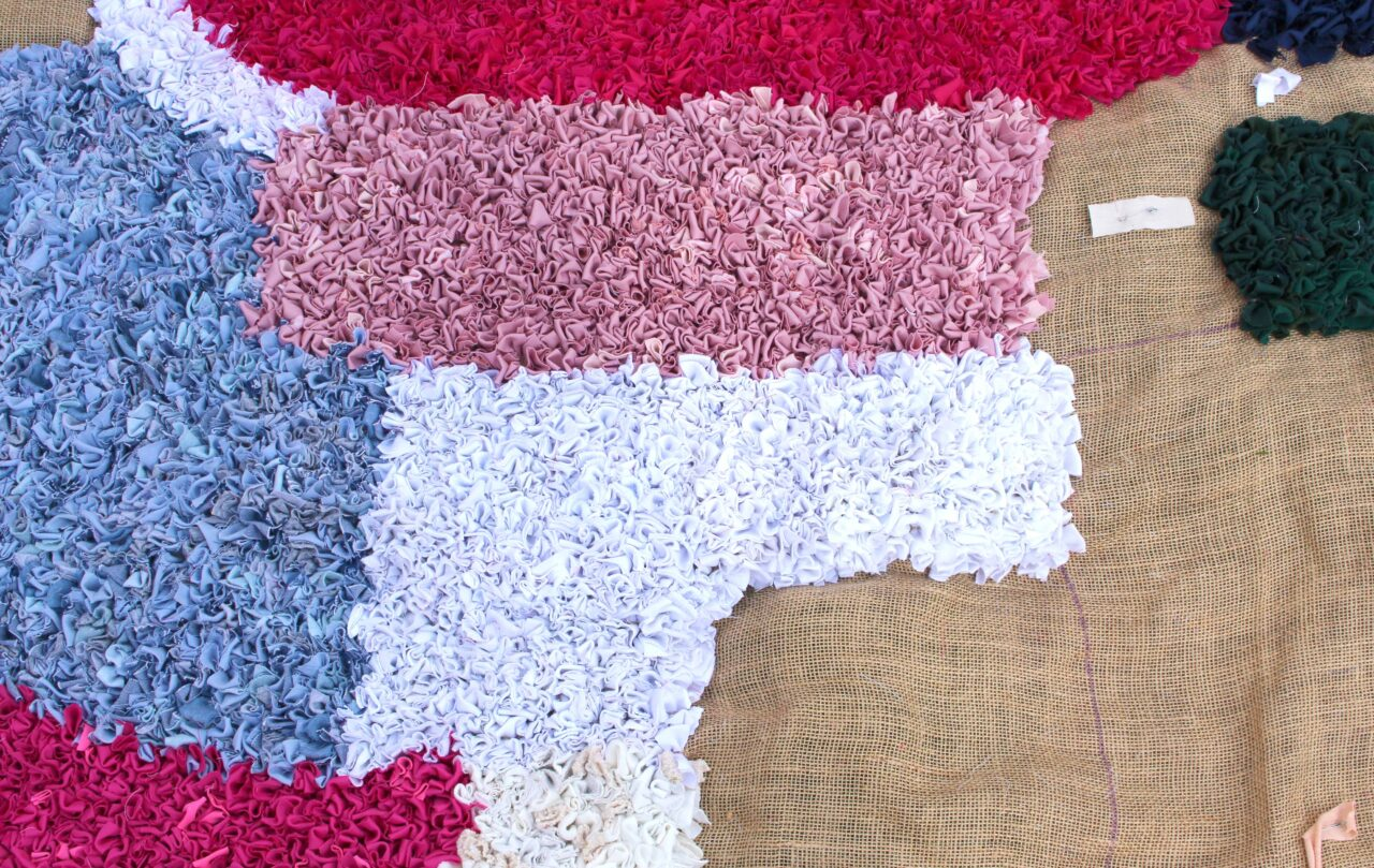 work in progress almost finished rag rug