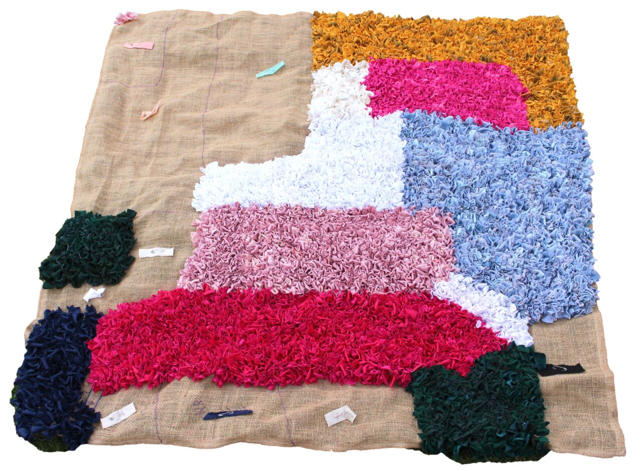 full view work in progress rag rug
