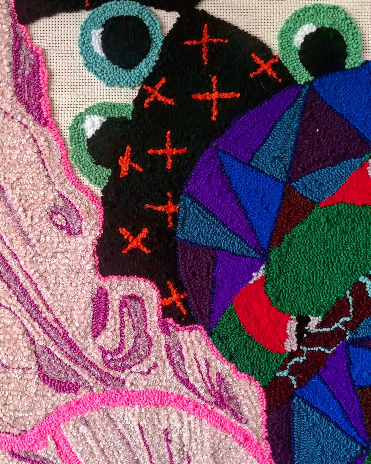 close up textile piece woman in pink dress