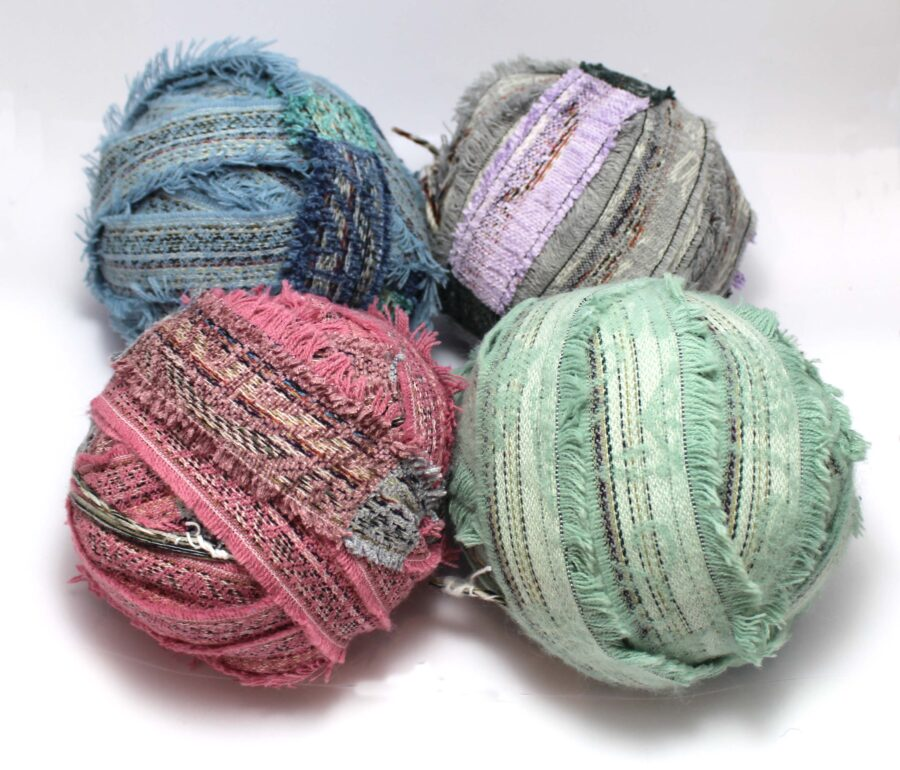 Buy colourful fabric strips for rag rug making