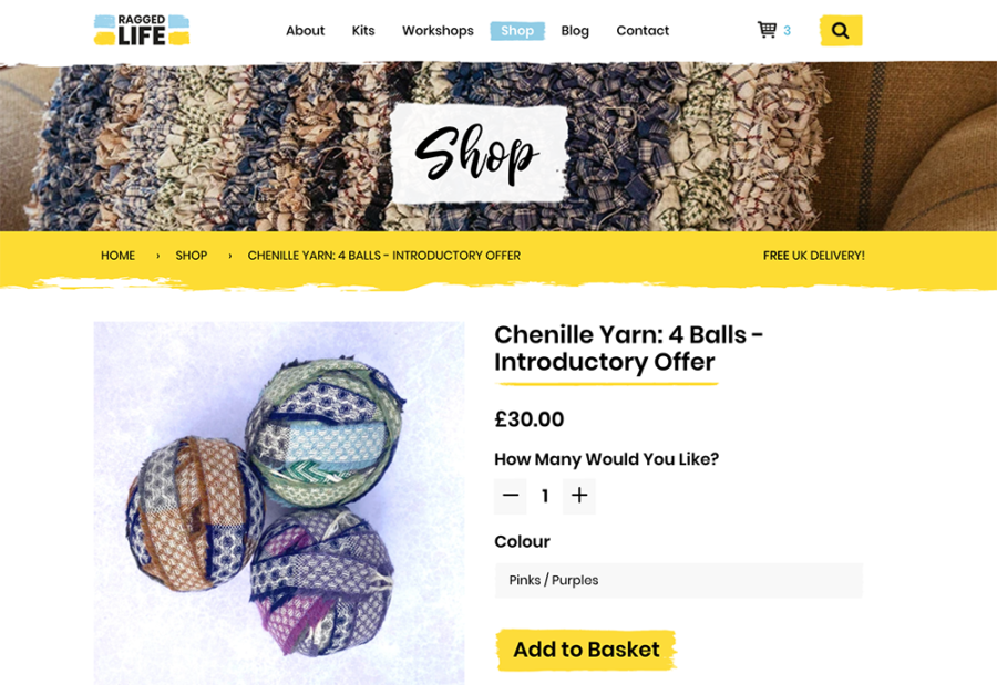 Buy chenille blanket yarn from the Yorkshire mills