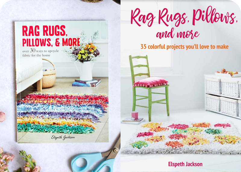Old and new book covers for Rag Rugs, Pillows & More
