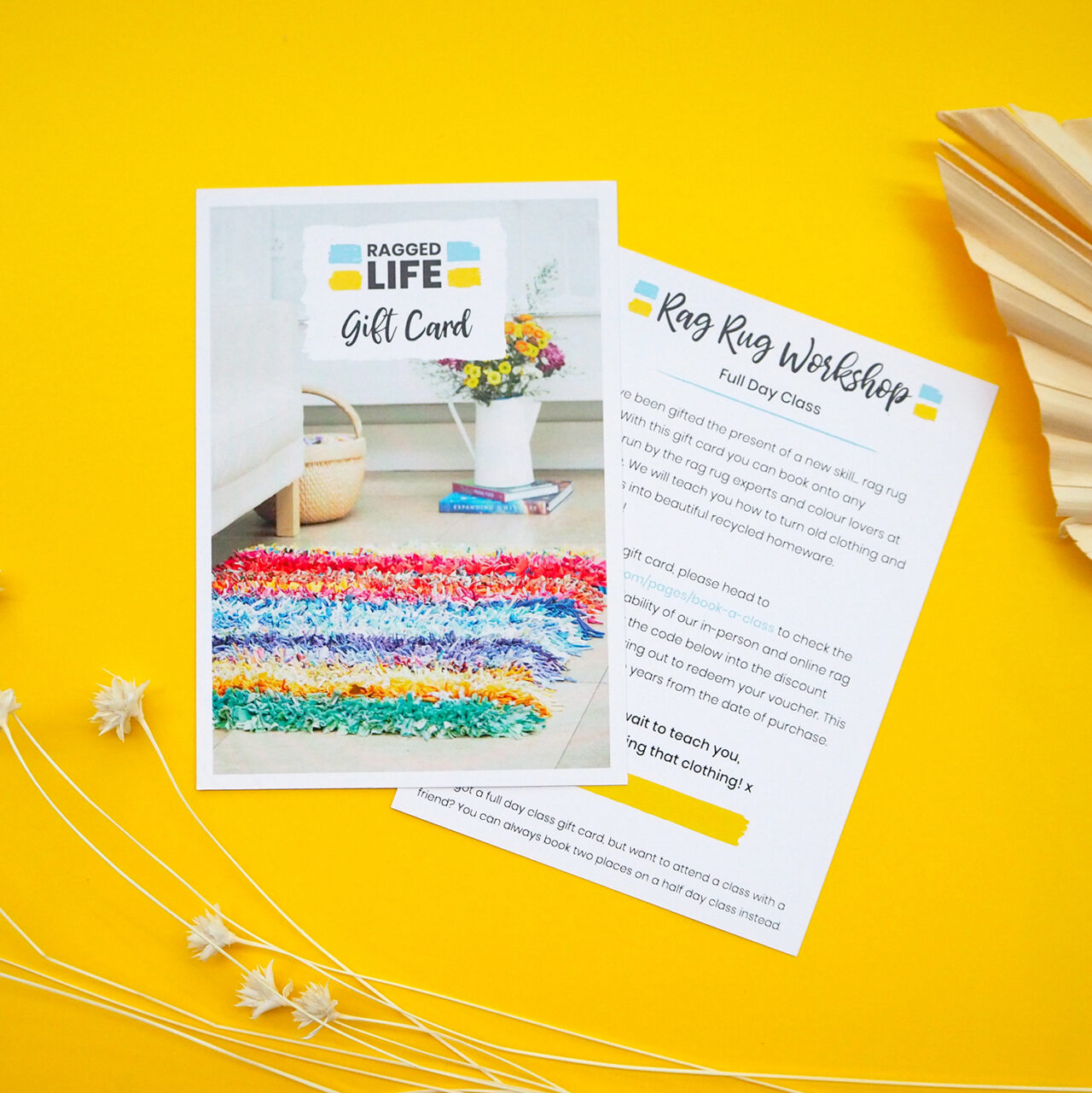 Ragged Life Full Day Workshop Gift Card