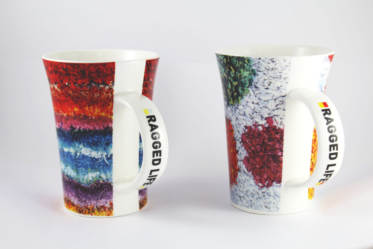 Rainbow and spotty new bone china large cups for crafters