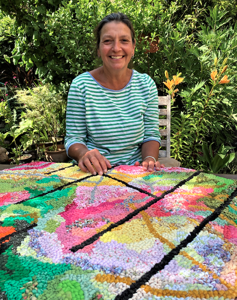 Rebecca Holley Portrait Hooked Rugs