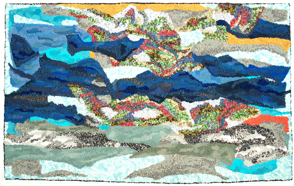 Hooked Seascape Design Rebecca Holley